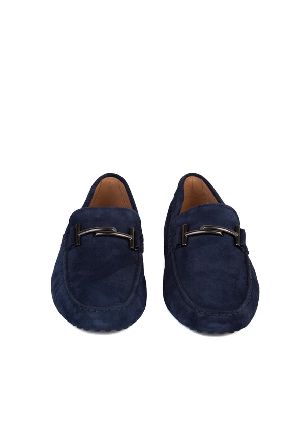 Tod's Mens Blue Gommino Suede Drivers - ACCESSX