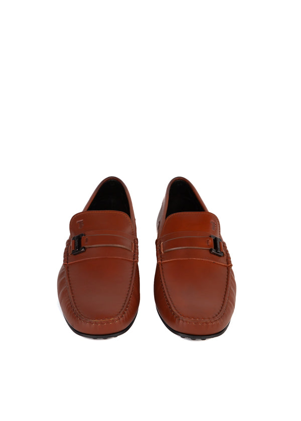 Tod's Mens Brown Leather Driving Shoes - ACCESSX