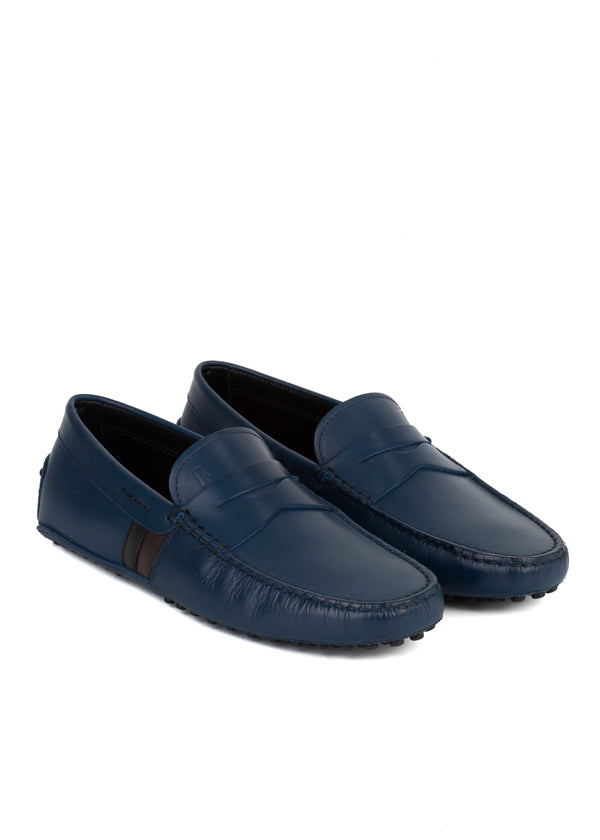 Tod's Mens Blue Leather Gommino Driving Shoes - ACCESSX
