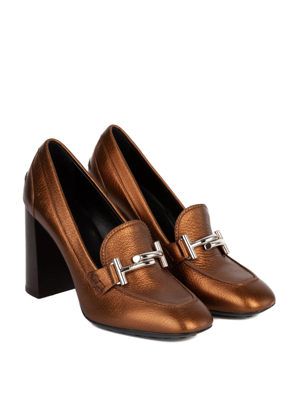 Tod's Womens Metallic Bronze Pumps - ACCESSX