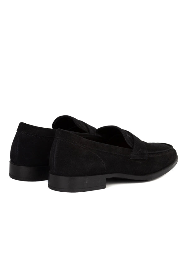 Tod's Mens Black Suede Loafers - ACCESSX