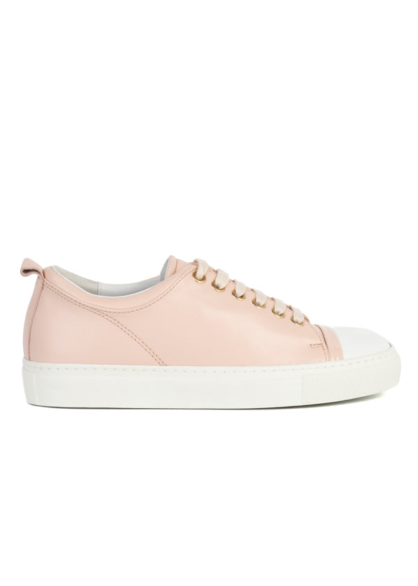 Lanvin Womens Light Pink Nappa Leather Sneakers - ACCESSX