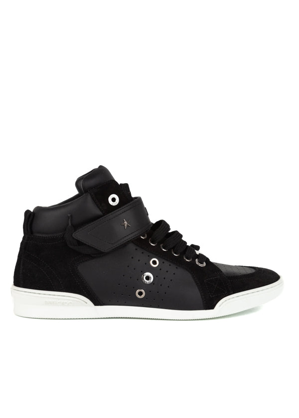 Jimmy Choo Mens Black Lewis Sneakers - Tribeca Fashion House