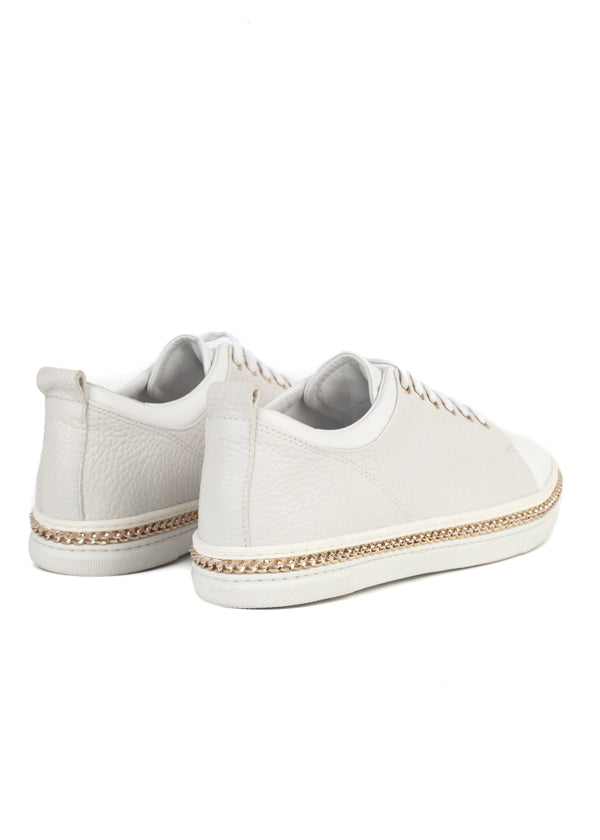 Lanvin Womens White Textured Low-Top Sneakers - ACCESSX