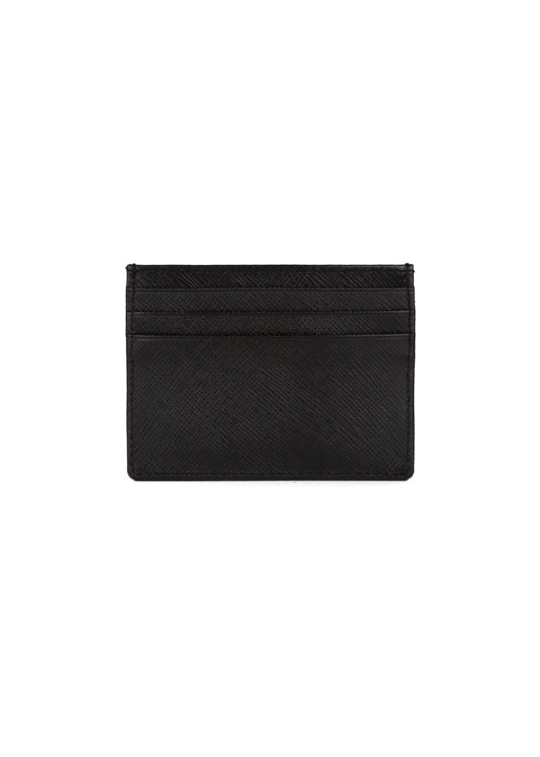 Roberto Cavalli Womens Black Leather Cardholder - Tribeca Fashion House