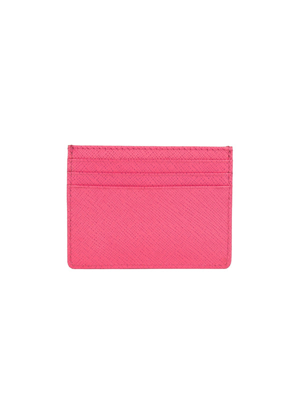 Roberto Cavalli Womens Pink Leather Cardholder - Tribeca Fashion House