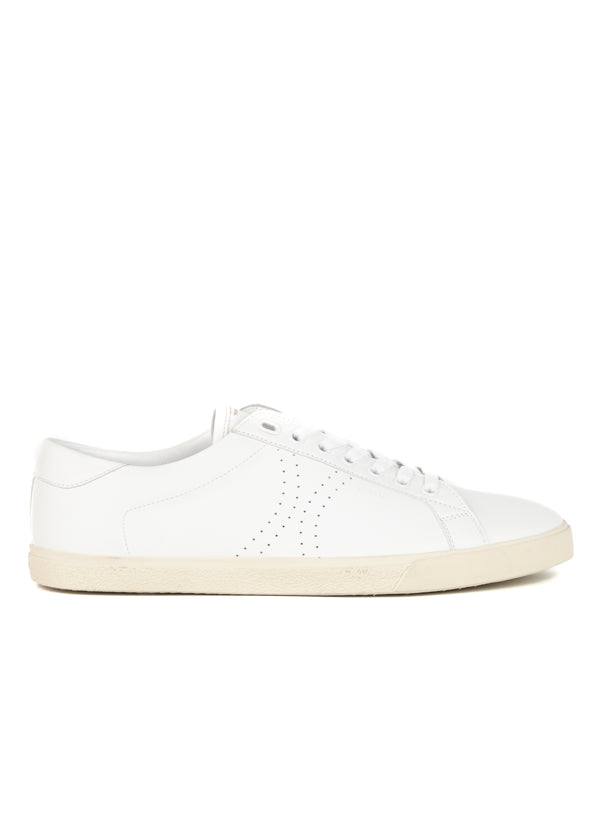 Celine Mens White Low-Top Triomphe Sneakers - ACCESSX