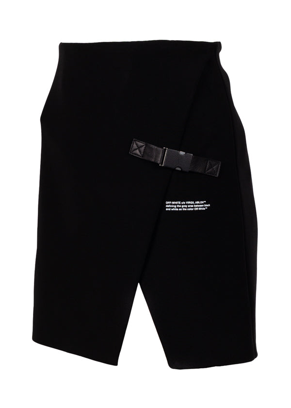 Off-White Womens Black Stretch Mini Skirt - ACCESSX