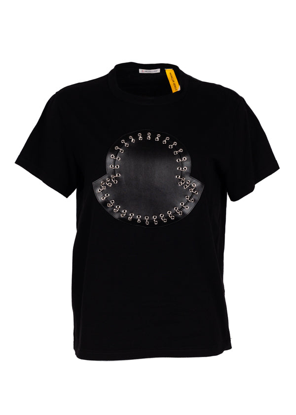 Moncler Genius Womens Black Kei Ninomiya Logo T-Shirt - Tribeca Fashion House