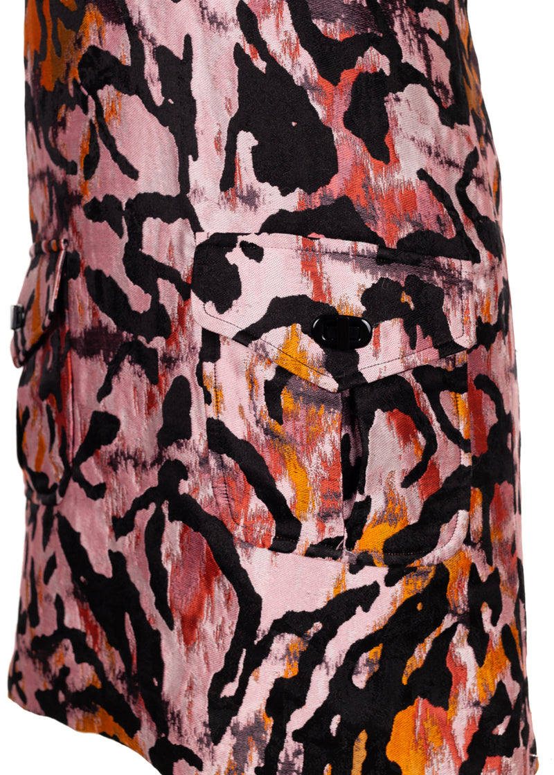 Tom Ford Womens Pink Cheetah Mini Sheath Dress - ACCESSX