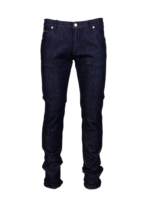 Dolce & Gabbana Mens Blue Cowboy Embroidered Jeans - ACCESSX