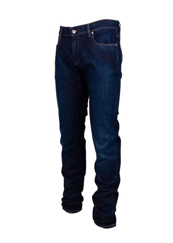Dolce & Gabbana Mens Blue Medium Wash Stretch Jeans - Tribeca Fashion House