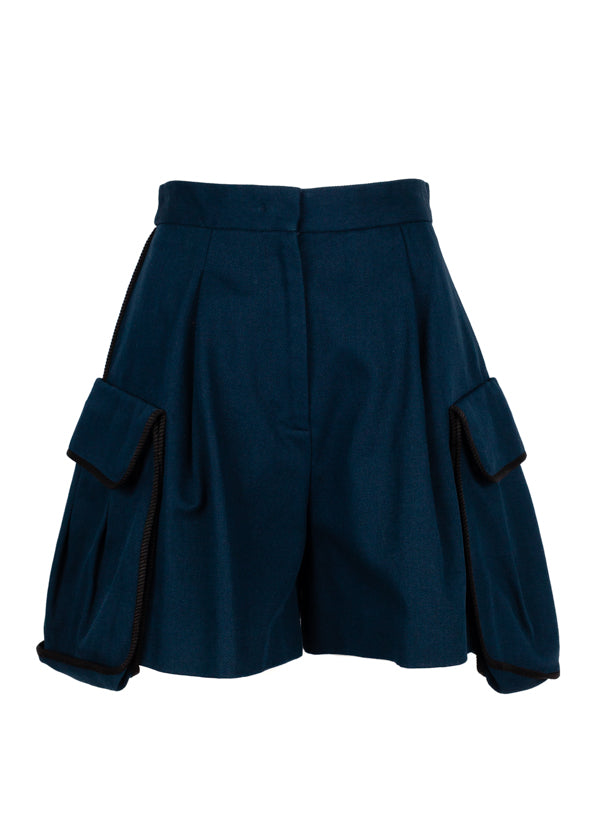 Fendi Womens Blue Medea Shorts - Tribeca Fashion House