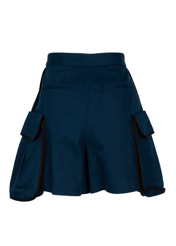 Fendi Womens Blue Medea Shorts - ACCESSX