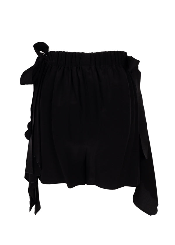 Fendi Womens Black Scalloped Shorts - Tribeca Fashion House