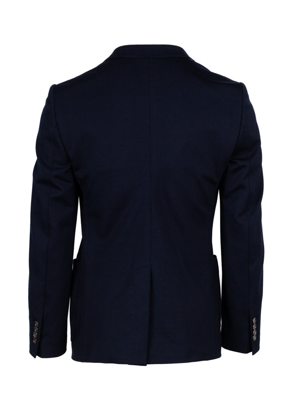 Dolce & Gabbana Mens Navy Embroidered Bee Crown Blazer - Tribeca Fashion House