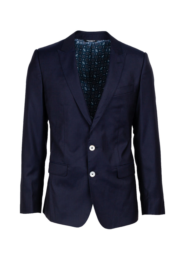 Dolce & Gabbana Mens Classic Navy Blazer - Tribeca Fashion House