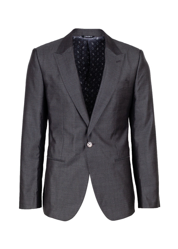 Dolce & Gabbana Mens Classic Grey Blazer - Tribeca Fashion House