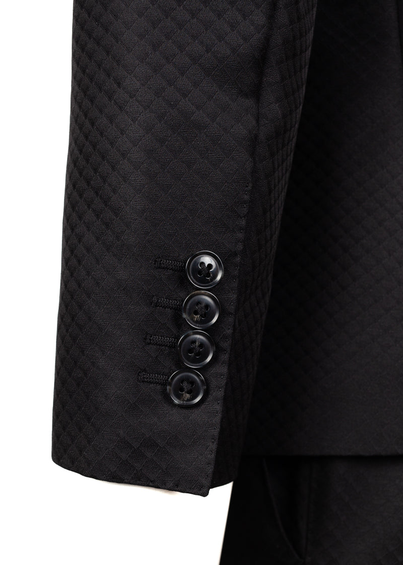 Dolce & Gabbana Mens Black Embellished Bee Suit - ACCESSX