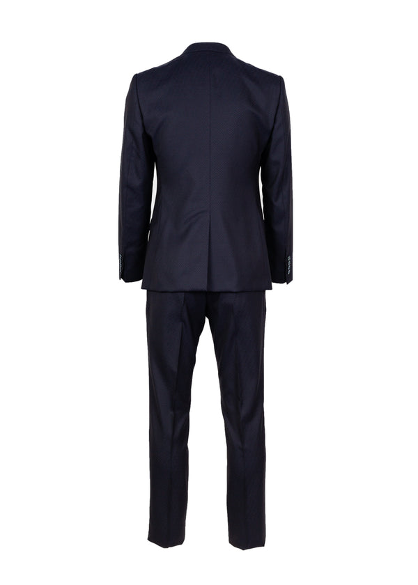 Dolce & Gabbana Mens Blue Double Breasted Suit - ACCESSX