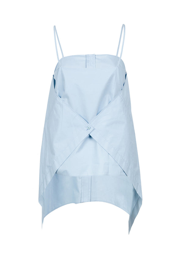 Balenciaga Womens Light Blue Panel Top - ACCESSX
