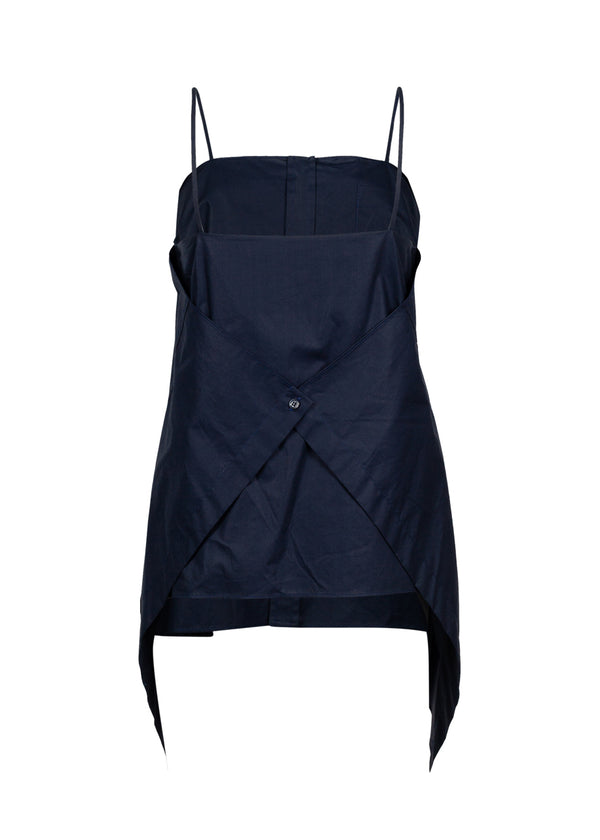 Balenciaga Womens Navy Panel Top - ACCESSX