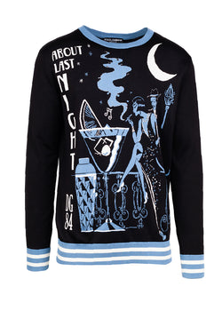 Dolce & Gabbana Mens Black 'About Last Night' Sweater - ACCESSX