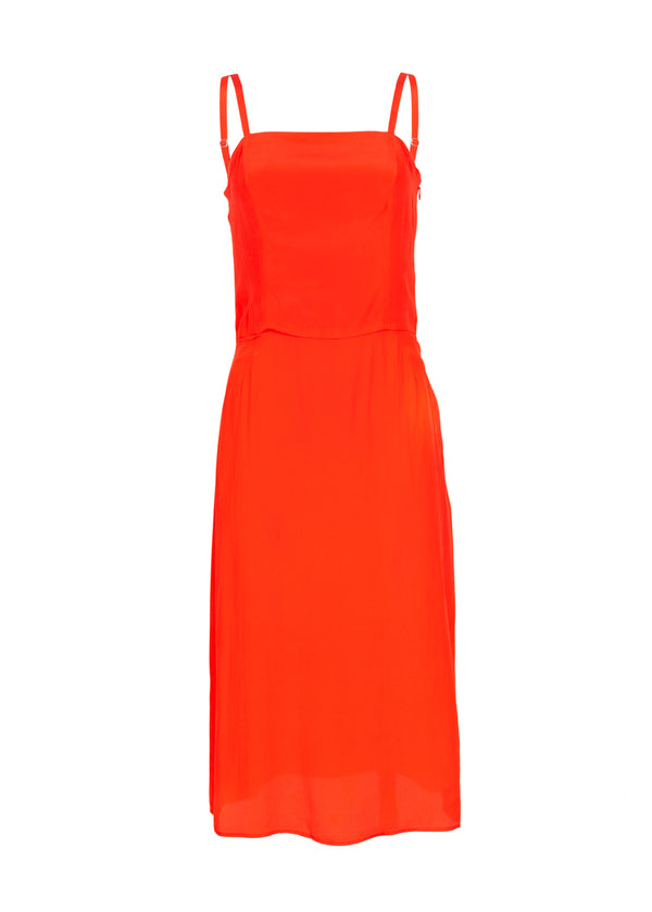 Balenciaga Womens Red Strappy Dress - ACCESSX