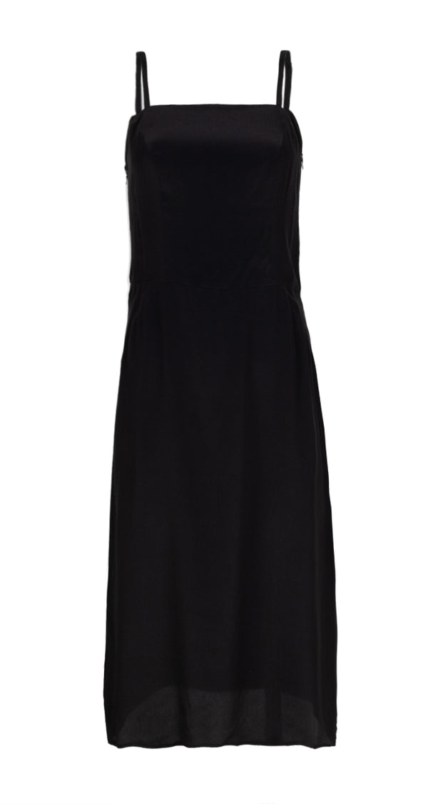Balenciaga Womens Black Strappy Dress - ACCESSX