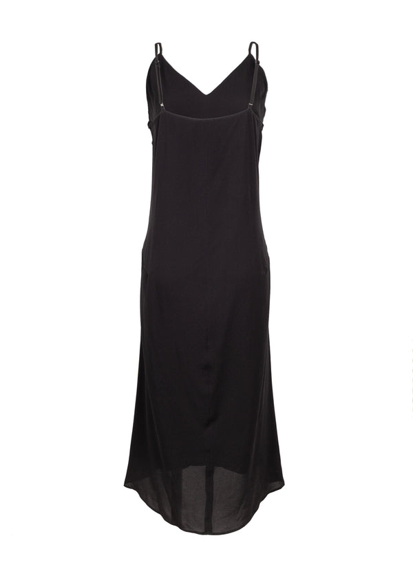 Balenciaga Womens Black Fluid Kick Slip Dress - ACCESSX