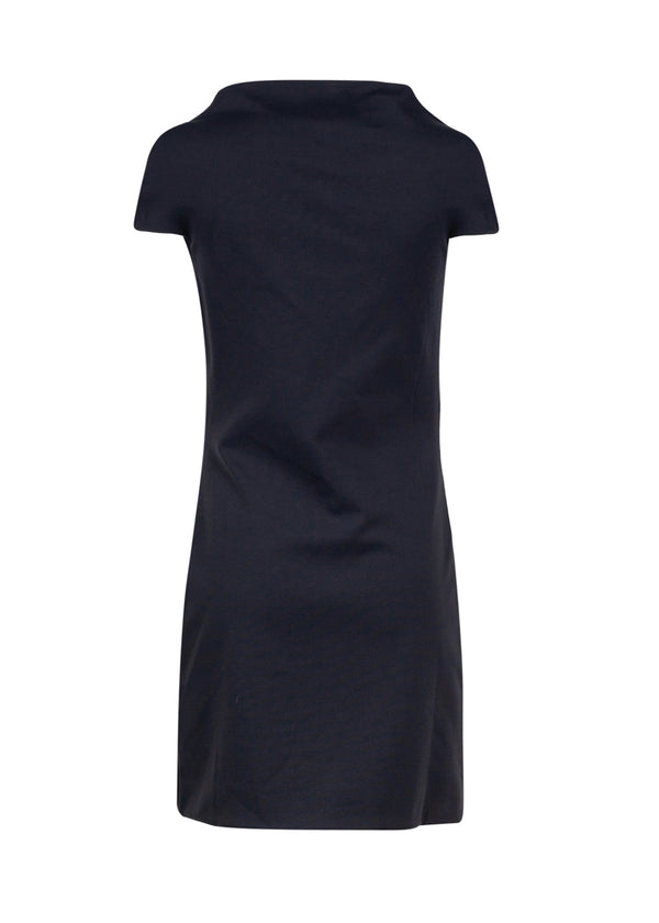 Balenciaga Womens Navy One Twist Mini Dress - ACCESSX