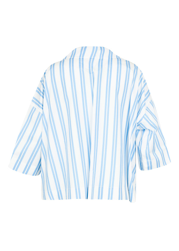 Balenciaga Womens Blue Striped Sailor Top - ACCESSX