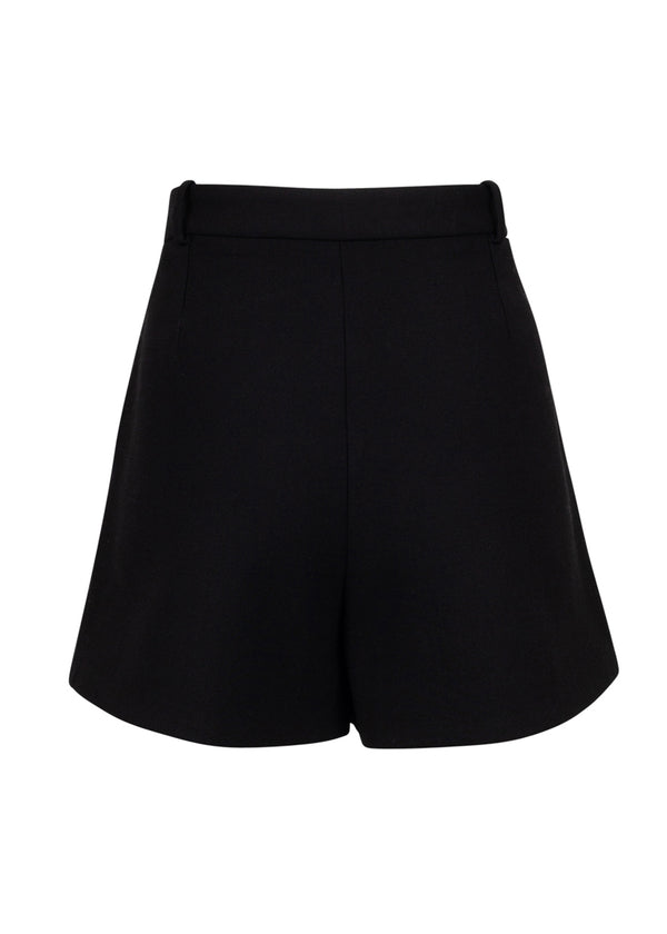Balenciaga Womens Black Splay Skirt - ACCESSX
