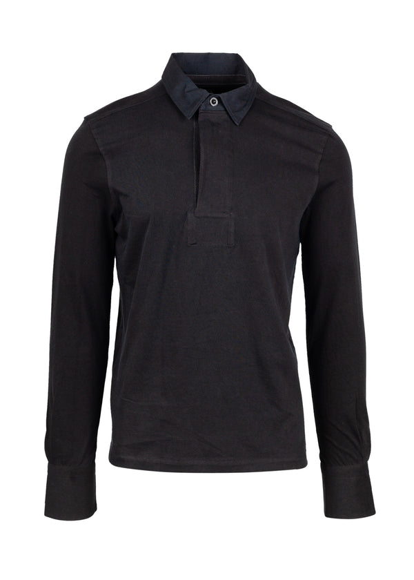 Tom Ford Mens Grey Cotton Rugby Polo - ACCESSX