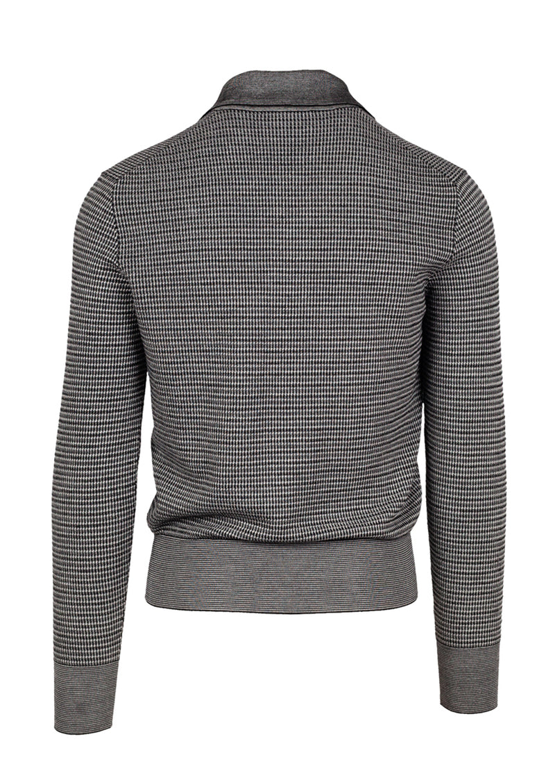 Tom Ford Mens Grey Tricot Knit Polo - ACCESSX