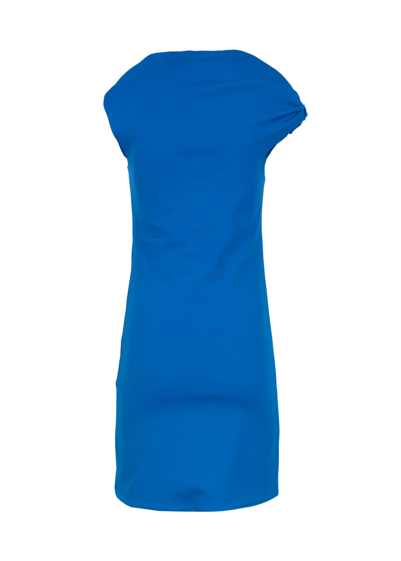 Balenciaga Womens Blue One Twist Mini Dress - ACCESSX
