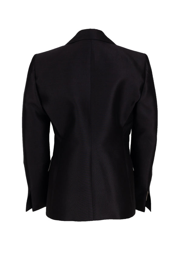 Celine Womens Black Wool Blend Blazer - ACCESSX