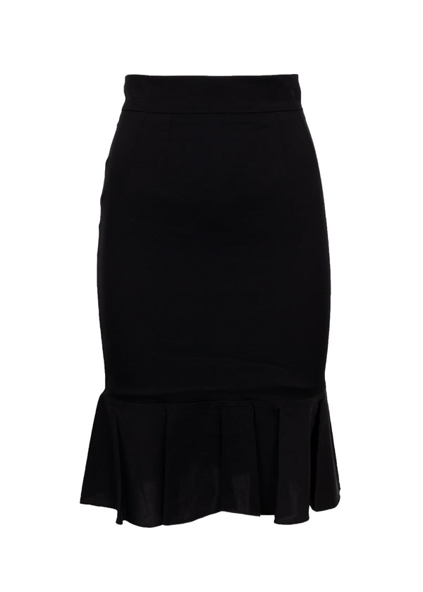 Dolce & Gabbana Womens Black Silk Pencil Skirt - ACCESSX