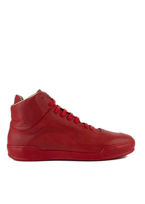 Maison Margiela Mens Red High-Top Sneakers - ACCESSX