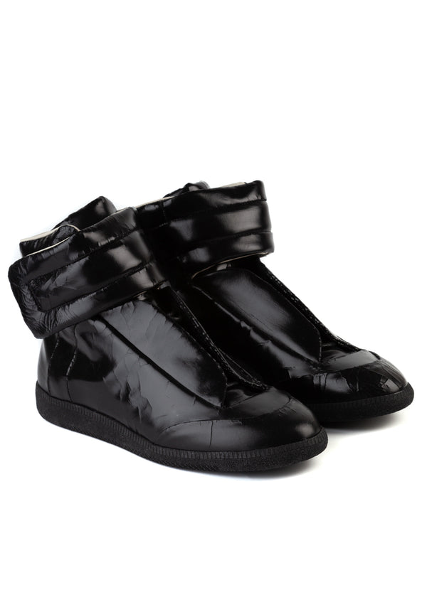 Maison Margiela Mens Black Future Hi Sneakers - ACCESSX