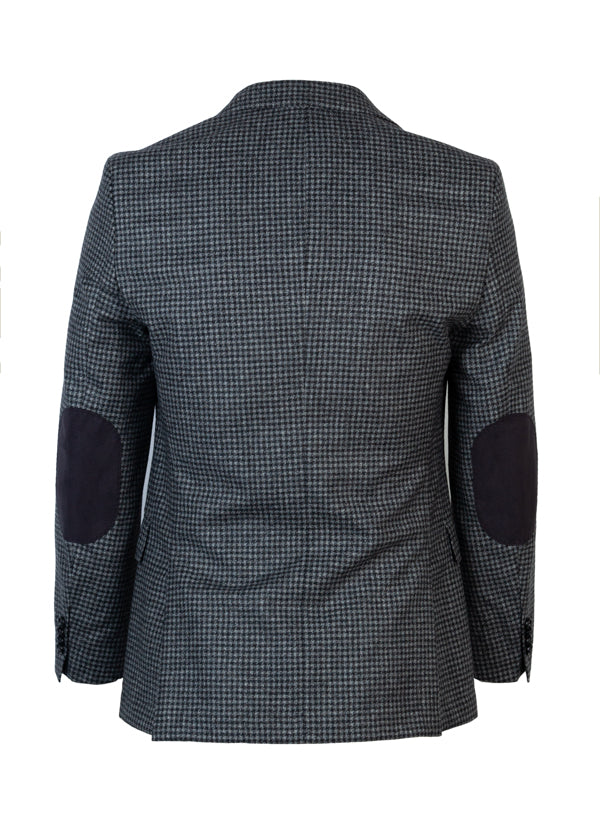 HUGO by Hugo Boss Mens Jestor Grey Herringbone Blazer - ACCESSX