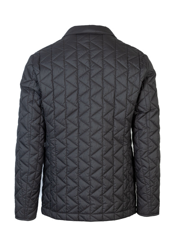 BOSS By Hugo Boss Mens Grey Jord Quilted Jacket - ACCESSX