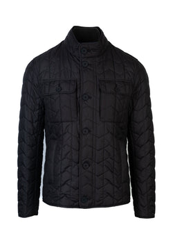BOSS By Hugo Boss Mens Black Camano Quilted Jacket - ACCESSX