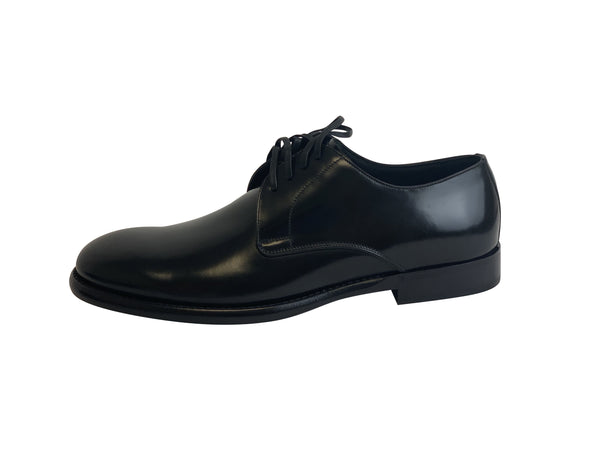 Dolce and Gabbana Mens Black Leather Derby Shoes