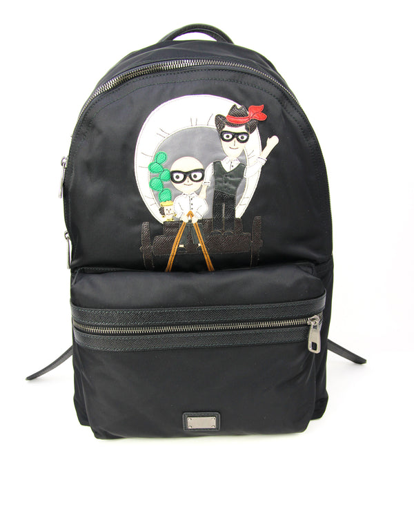 Dolce & Gabbana Mens Family Patch Vulcano Backpack - ACCESSX