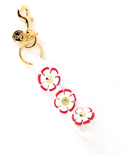 Moschino Floral Leather Keyring - ACCESSX