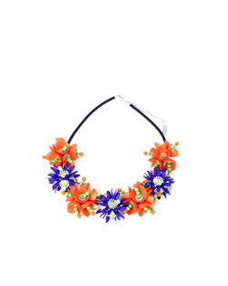 Moschino Floral Statement Necklace - ACCESSX