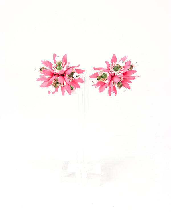 Moschino Floral Clip On Earrings - ACCESSX