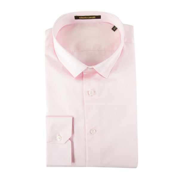 Roberto Cavalli Slim-Fit Dress Shirt in Pink - ACCESSX