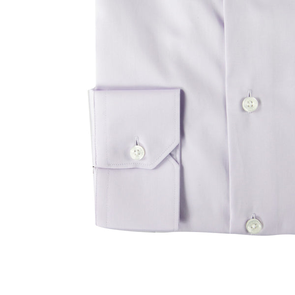 Roberto Cavalli Slim-Fit Dress Shirt in Lilac - ACCESSX